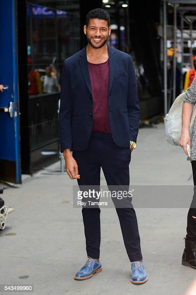 Actor Jeffrey BowyerChapman leaves the 'Good Morning America' taping at the ABC Times Square Studios on June 28 2016 in New York City