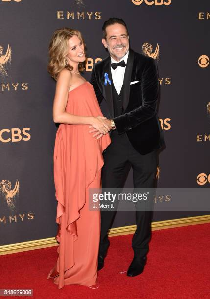 Actor Jeffrey Dean Morgan and Hilarie Burton attend the 69th Annual Primetime Emmy Awards at Microsoft Theater on September 17 2017 in Los Angeles...