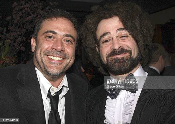Actor Jeffrey Dean Morgan and Musician Adam Duritz pose at the opening night party for Sarah Ruhl's 'Dead Man's Cell Phone' at The West Bank Cafe on...
