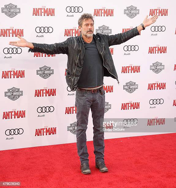 Actor Jeffrey Dean Morgan arrives at the premiere of Marvel Studios 'AntMan' at Dolby Theatre on June 29 2015 in Hollywood California