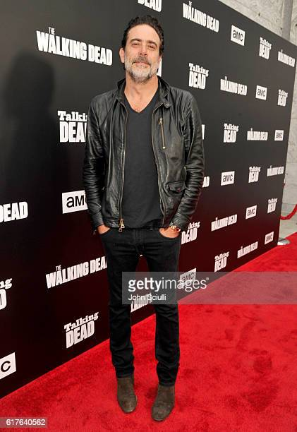 Actor Jeffrey Dean Morgan attends AMC presents 'Talking Dead Live' for the premiere of 'The Walking Dead' at Hollywood Forever on October 23 2016 in...