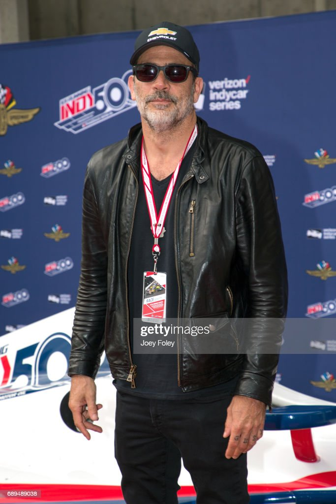 Actor Jeffrey Dean Morgan attends the 101st Indianapolis 500 at Indianapolis Motor Speedway on May 28, 2017 in Indianapolis, Indiana.