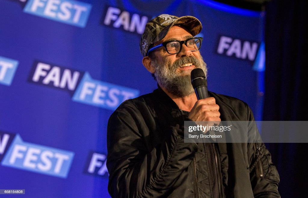 Actor Jeffrey Dean Morgan during the Walker Stalker Con Chicago at the Donald E. Stephens Convention Center on March 26, 2017 in Rosemont, Illinois.