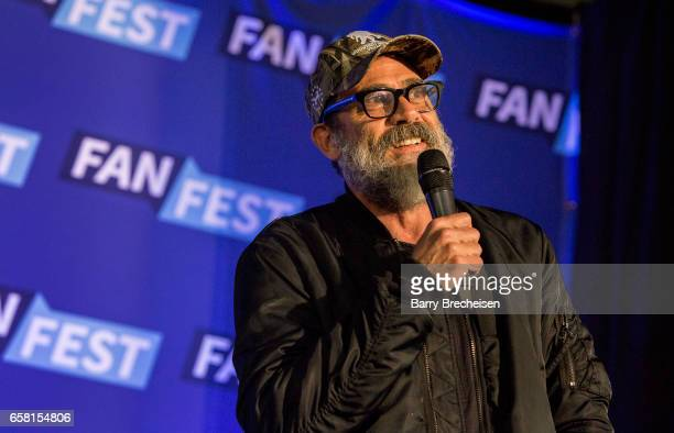 Actor Jeffrey Dean Morgan during the Walker Stalker Con Chicago at the Donald E Stephens Convention Center on March 26 2017 in Rosemont Illinois