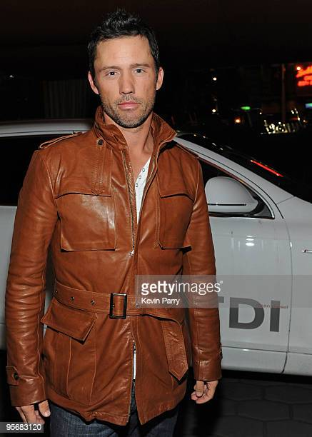 Actor Jeffrey Donovan arrives to the Audi Golden Globes Celebration with Nominee Anna Paquin in an Audi TDI at the Sunset Tower Hotel on January 10...
