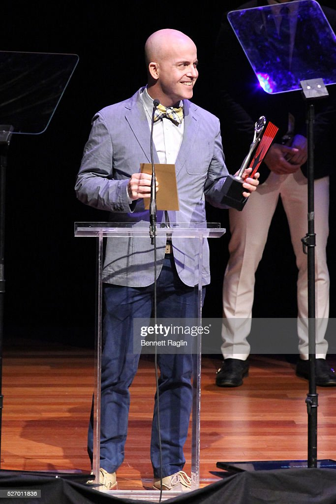 Actor Jeffrey Kuhn accepts an award onstage during the 31st Annual Lucille Lortel Awards at NYU Skirball Center on May 1, 2016 in New York City.