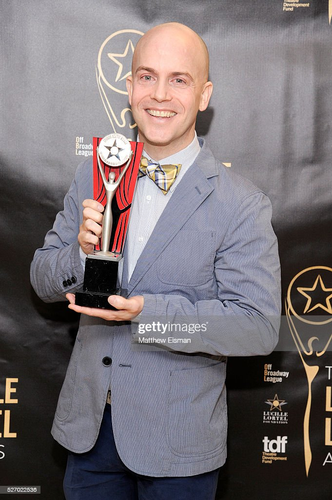 Actor Jeffrey Kuhn attends the press room for the 31st Annual Lucille Lortel Awards at NYU Skirball Center on May 1, 2016 in New York City.