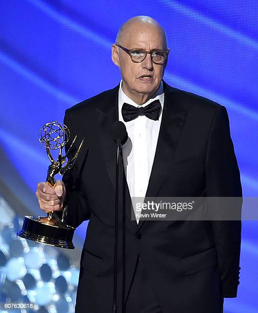 Actor Jeffrey Tambor accepts Outstanding Lead Actor in a Comedy Series for 'Transparent' onstage during the 68th Annual Primetime Emmy Awards at...