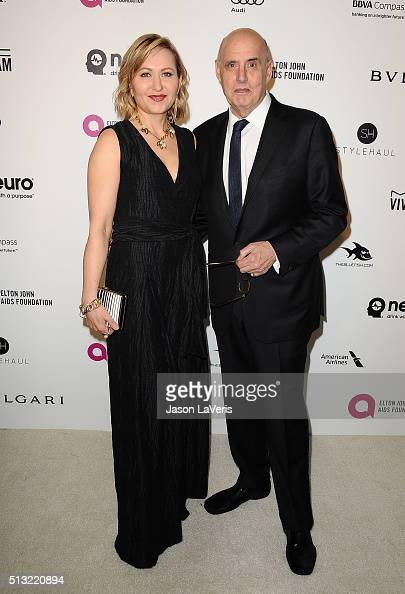 Actor Jeffrey Tambor and wife Kasia Ostlun attend the 24th annual Elton John AIDS Foundation's Oscar viewing party on February 28 2016 in West...