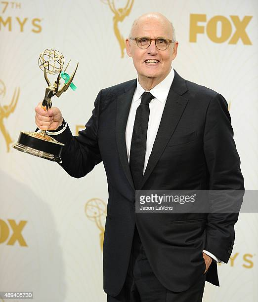 Actor Jeffrey Tambor poses in the press room at the 67th annual Primetime Emmy Awards at Microsoft Theater on September 20 2015 in Los Angeles...