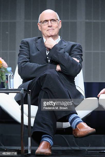 Actor Jeffrey Tambor speaks onstage during the 'Transparent' panel discussion at the Amazon Studios portion of the 2015 Summer TCA Tour at The...
