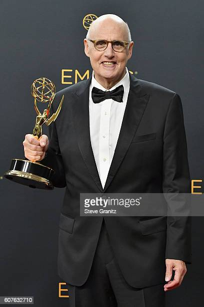Actor Jeffrey Tambor winner of the Outstanding Lead Actor in a Comedy Series for 'Transparent' poses in the press room during the 68th Annual...