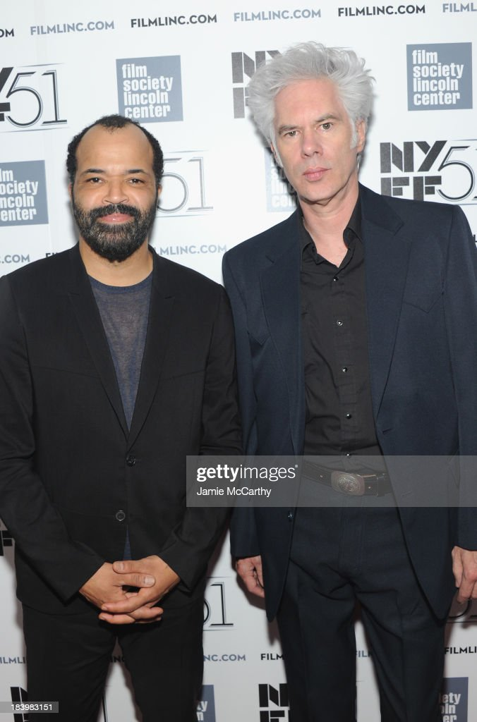Actor <a gi-track='captionPersonalityLinkClicked' href=/galleries/search?phrase=Jeffrey+Wright&family=editorial&specificpeople=210851 ng-click='$event.stopPropagation()'>Jeffrey Wright</a> and director <a gi-track='captionPersonalityLinkClicked' href=/galleries/search?phrase=Jim+Jarmusch&family=editorial&specificpeople=208784 ng-click='$event.stopPropagation()'>Jim Jarmusch</a> attend the 'Only Lovers Left Alive' screening during the 51st New York Film Festival at Alice Tully Hall at Lincoln Center on October 10, 2013 in New York City.