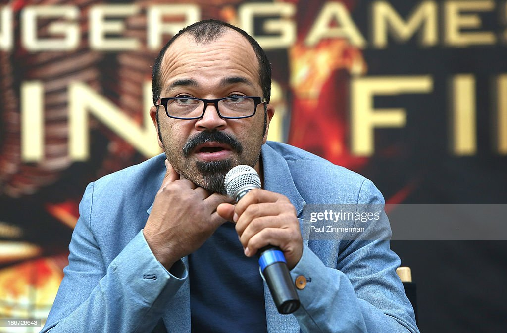 Actor <a gi-track='captionPersonalityLinkClicked' href=/galleries/search?phrase=Jeffrey+Wright&family=editorial&specificpeople=210851 ng-click='$event.stopPropagation()'>Jeffrey Wright</a> attends the 'The Hunger Games: Catching Fire' mall tour at Cherry Hill Mall on November 3, 2013 in Cherry Hill, New Jersey.