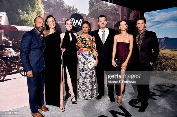 Actor Jeffrey Wright Executive producer/writer Lisa Joy actresses Evan Rachel Wood Thandie Newton Executive producer/writer/director Jonathan Nolan...