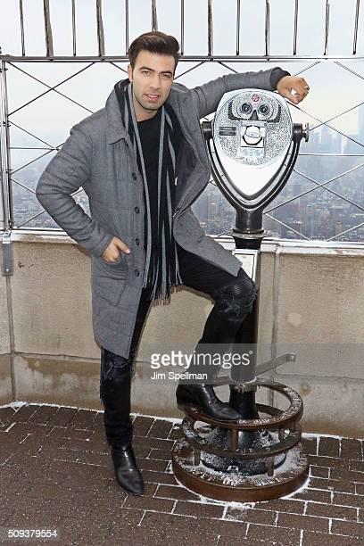 Actor Jencarlos Canela visits The Empire State Building on February 10 2016 in New York City