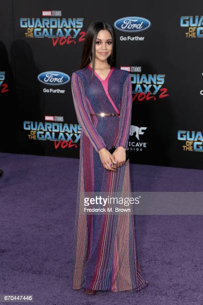 Actor Jenna Ortega at the premiere of Disney and Marvel's 'Guardians Of The Galaxy Vol 2' at Dolby Theatre on April 19 2017 in Hollywood California