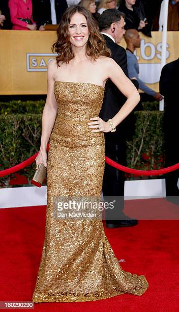 Actor Jennifer Garner arrives at the 19th Annual Screen Actors Guild Awards at the Shrine Auditorium on January 27 2013 in Los Angeles California