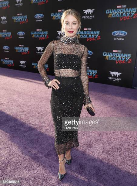 """Actor Jennifer Holland at The World Premiere of Marvel Studios' """"Guardians of the Galaxy Vol 2"""" at Dolby Theatre in Hollywood CA April 19th 2017"""