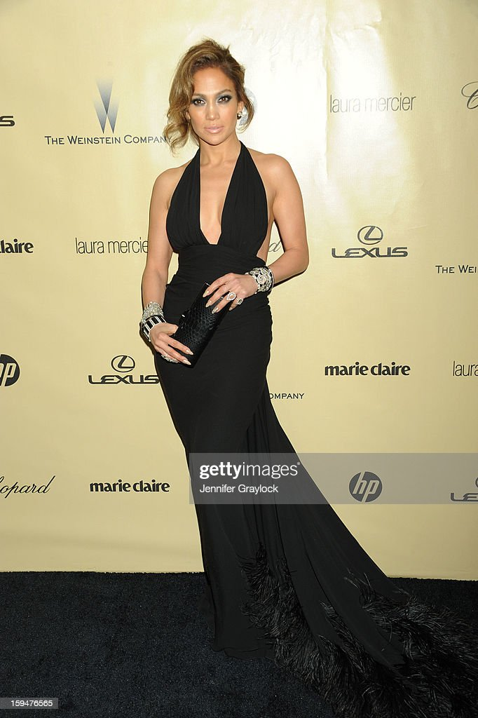 Actor Jennifer Lopez attends The Weinstein Company's 2013 Golden Globes After Party sponsored by Marie Claire held at The Old Trader Vic's in The Beverly Hilton Hotel on January 13, 2013 in Beverly Hills, California.