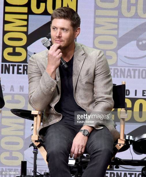 Actor Jensen Ackles at the 'Supernatural' panel during ComicCon International 2017 at San Diego Convention Center on July 23 2017 in San Diego...