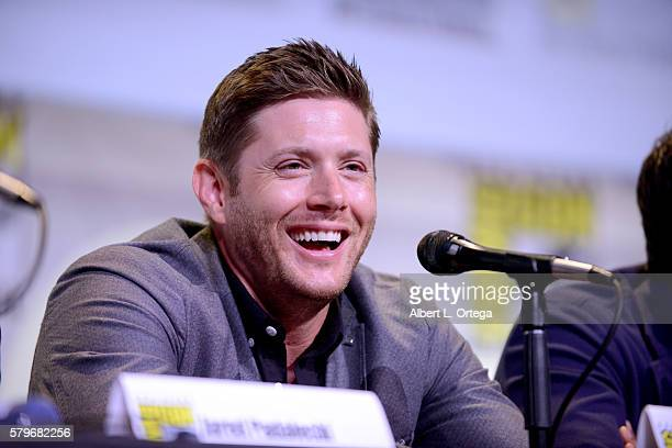 Actor Jensen Ackles attends the 'Supernatural' Special Video Presentation And QA during ComicCon International 2016 at San Diego Convention Center on...
