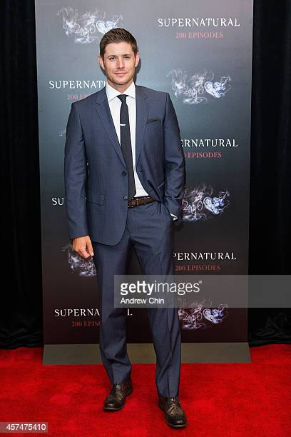 Actor Jensen Ackles celebrates the 200th episode of 'Supernatural' at Fairmont Pacific Rim Hotel on October 18 2014 in Vancouver Canada