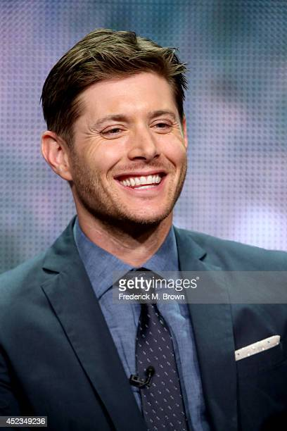 Actor Jensen Ackles speaks onstage at the 'Supernatural' panel during the CW Network portion of the 2014 Summer Television Critics Association at The...