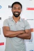 Actor Jensen Atwood attends the Pan African Film Arts Festival closing night premiere of 'Blackbird' at Rave Cinemas on February 16 2014 in Los...