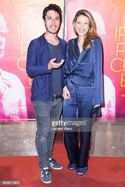 Actor Jeremie Elkaim aand Actress Camille Japy attend 'Irreprochable' Paris Premiere at UGC Cine Cite des Halles on June 30 2016 in Paris France