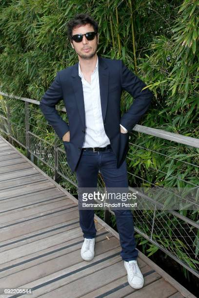 Actor Jeremie Elkaim attends the 2017 French Tennis Open Day Height at Roland Garros on June 4 2017 in Paris France