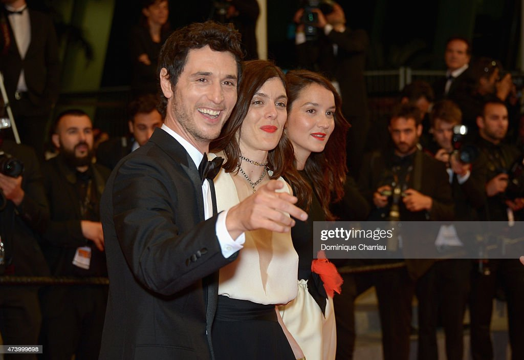 Actor Jeremie Elkaim director Valerie Donzelli and actress Anais Demoustier attend the 'Marguerite Julien' Premiere during the 68th annual Cannes...
