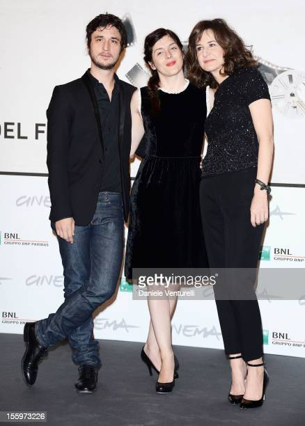 Actor Jeremie Elkaim director Valerie Donzelli and actress Valerie Lemercier attends the 'Main Dans La Main' Photocal during the 7th Rome Film...