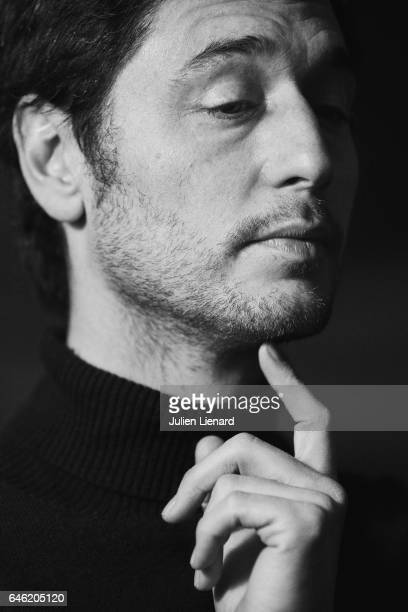 Actor Jeremie Elkaim is photographed for Self Assignment on January 20 2017 in Paris France