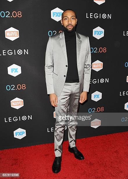 Actor Jeremie Harris attends the premiere of 'Legion' at Pacific Design Center on January 26 2017 in West Hollywood California