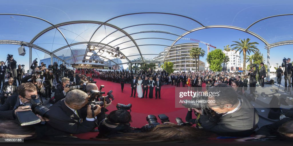 Actor Jeremie Laheurte, actress Adele Exarchopoulos, director Abdellatif Kechiche, actress Lea Seydoux and Producer Brahim Chioua attend the Premiere of 'Zulu' and the Closing Ceremony of The 66th Annual Cannes Film Festival at Palais des Festivals on May 26, 2013 in Cannes, France.