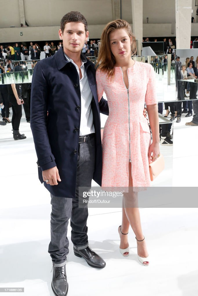 Actor Jeremie Laheurte and actress Adele Exarchopoulos attend Dior Homme Menswear Spring/Summer 2014 Show as part of the Paris Fashion Week on June 29, 2013 in Paris, France.
