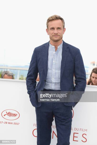 Actor Jeremie Renier attends the 'Amant Double ' Photocall during the 70th annual Cannes Film Festival at Palais des Festivals on May 26 2017 in...