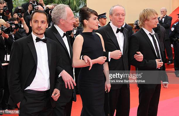 Actor Jeremie Renier JeanPierre Dardenne director actress Arta Dobroshi Luc Dardenne director and actor Fabrizio Rongione attend the 'Le Silence de...