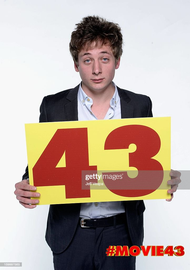 Actor <a gi-track='captionPersonalityLinkClicked' href=/galleries/search?phrase=Jeremy+Allen+White&family=editorial&specificpeople=7366645 ng-click='$event.stopPropagation()'>Jeremy Allen White</a> poses for a portrait during Relativity Media's 'Movie 43' Los Angeles premiere at TCL Chinese Theatre on January 23, 2013 in Hollywood, California.
