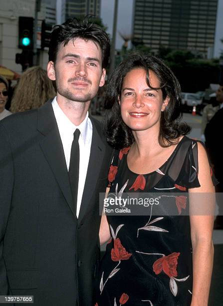 Actor Jeremy Davies and Kelsey Meyers attend the premiere of 'Saving Private Ryan' on July 21 1998 at Mann Village Theater in Westwood California
