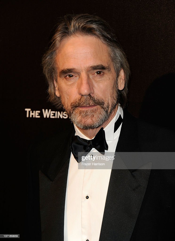 Actor <a gi-track='captionPersonalityLinkClicked' href=/galleries/search?phrase=Jeremy+Irons&family=editorial&specificpeople=203309 ng-click='$event.stopPropagation()'>Jeremy Irons</a> arrives at The Weinstein Company's 2012 Golden Globe Awards After Party at The Beverly Hilton hotel on January 15, 2012 in Beverly Hills, California.
