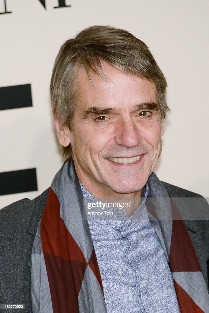 Actor <a gi-track='captionPersonalityLinkClicked' href=/galleries/search?phrase=Jeremy+Irons&family=editorial&specificpeople=203309 ng-click='$event.stopPropagation()'>Jeremy Irons</a> attends Giorgio Armani - One Night Only New York at SuperPier on October 24, 2013 in New York City.
