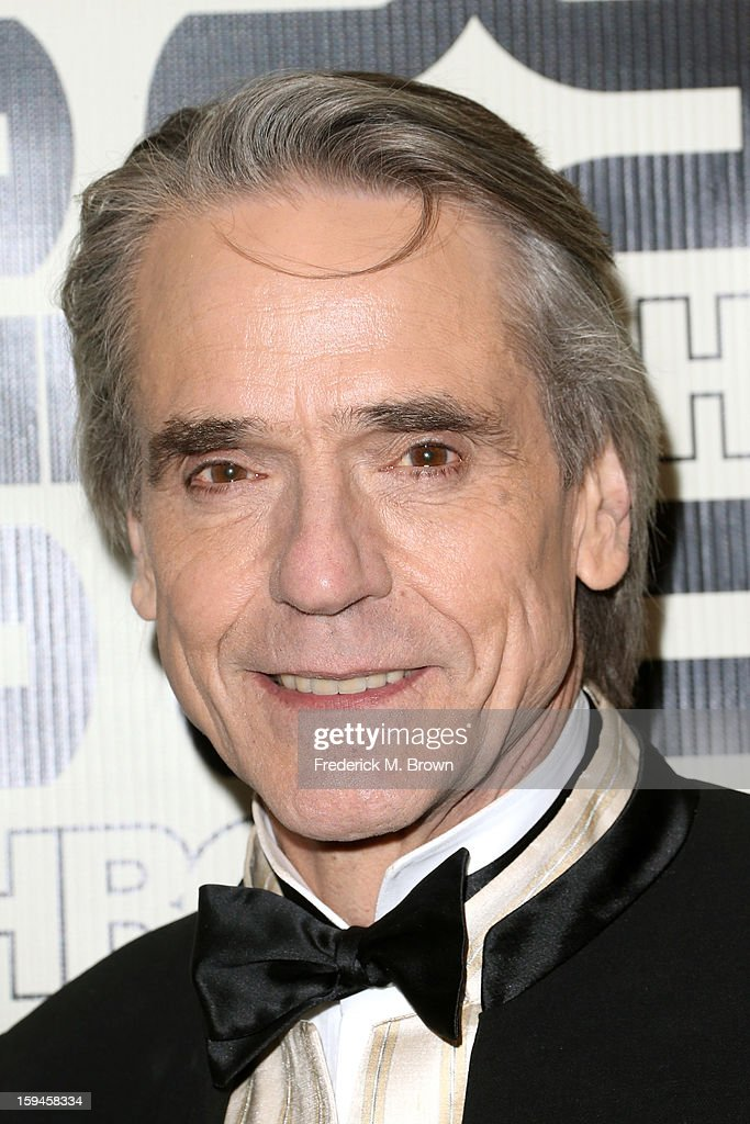 Actor <a gi-track='captionPersonalityLinkClicked' href=/galleries/search?phrase=Jeremy+Irons&family=editorial&specificpeople=203309 ng-click='$event.stopPropagation()'>Jeremy Irons</a> attends HBO's Post 2013 Golden Globe Awards Party held at Circa 55 Restaurant at the Beverly Hilton Hotel on January 13, 2013 in Beverly Hills, California.