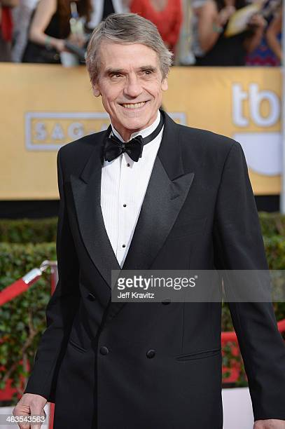 Actor Jeremy Irons attends the 20th Annual Screen Actors Guild Awards at The Shrine Auditorium on January 18 2014 in Los Angeles California