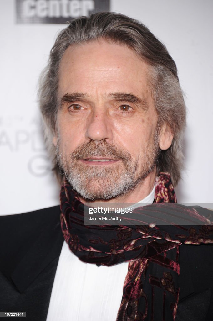 Actor <a gi-track='captionPersonalityLinkClicked' href=/galleries/search?phrase=Jeremy+Irons&family=editorial&specificpeople=203309 ng-click='$event.stopPropagation()'>Jeremy Irons</a> attends the 40th Anniversary Chaplin Award Gala at Avery Fisher Hall at Lincoln Center for the Performing Arts on April 22, 2013 in New York City.