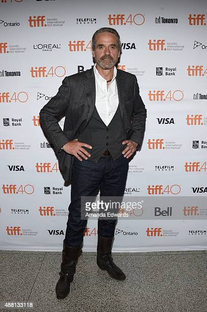 Actor Jeremy Irons attends the 'HighRise' premiere during the 2015 Toronto International Film Festival at The Elgin on September 13 2015 in Toronto...
