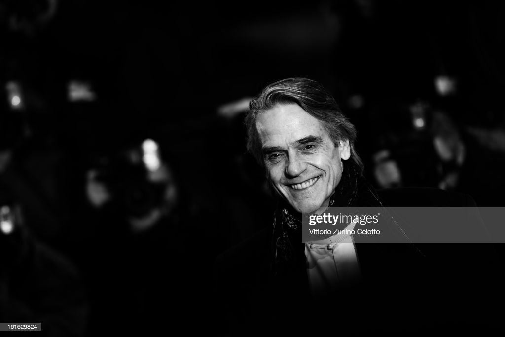 Actor <a gi-track='captionPersonalityLinkClicked' href=/galleries/search?phrase=Jeremy+Irons&family=editorial&specificpeople=203309 ng-click='$event.stopPropagation()'>Jeremy Irons</a> during the 63rd Berlinale International Film Festival at Berlinale Palast on February 12, 2013 in Berlin, Germany.