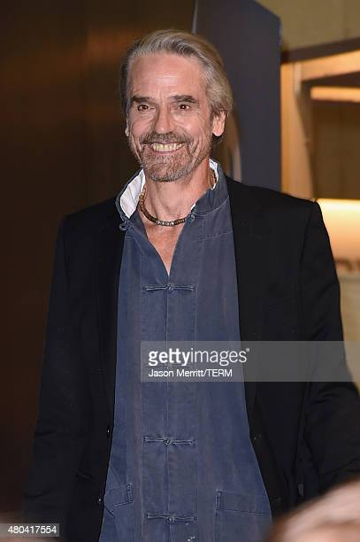 Actor Jeremy Irons is seen at ComicCon International 2015 on July 11 2015 in San Diego California