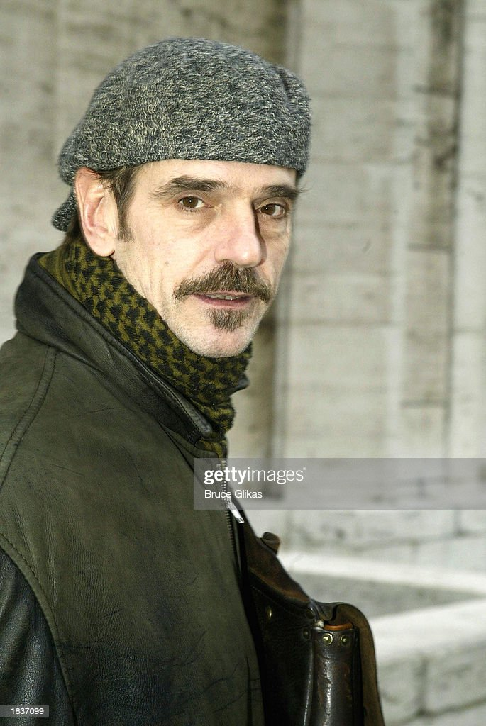 Actor Jeremy Irons, who plays 'Fredrik Egerman' in the New York City Opera's production of Stephen Sondheim's 'A Little Night Music', poses after the opening weekend at The New York State Theater at the Lincoln Center on March 8, 2003 in New York City.